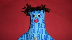 Boss Dammit Doll with brown hair & buttons by tobeesgifts on Etsy, $15.95