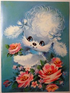 Sweet Poodle Card