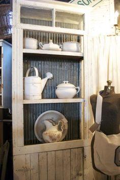 corrugated tin cabinet