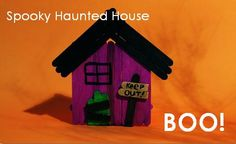 Fun Halloween Craft for Kids | Spooky Haunted House. Fun crafts for kids!