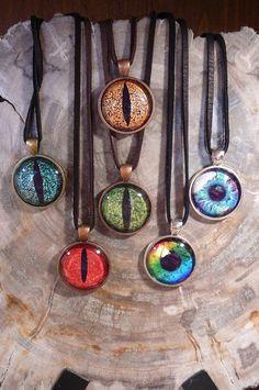Dragon eye necklaces.