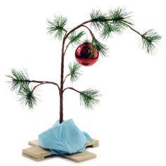 Charlie Brown Christmas Tree, love this