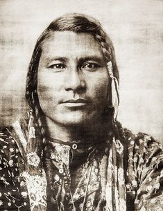 +Native American Indian Hail Stone (aka Stump Horn Bull, aka Spotted Horn Bull)