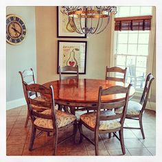 Faux Aged Copper Finish on Dining Room Table Top | Modern Masters Copper Metallic Paint | Project by Louisville, Kentucky artist Linda Gale Boyles