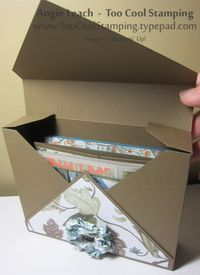 Easy diagonal plate card box (open)fits 6-10 cards with envelopes