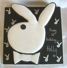 A Playboy cake for a girl's 12th birthday.  Her mom and dad are a sure win for Parents of the Year.
