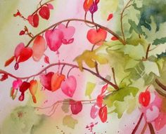 Bleeding Hearts - nature's Valentines, painting by artist Kay Smith
