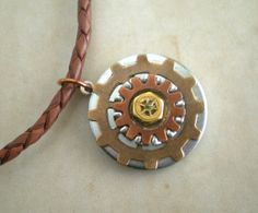 Gear Necklace: Men's Necklace - Men's Jewelry - Industrial Jewelry - Washer Jewelry - Steampunk Jewelry - Men's Gift - Father's Day