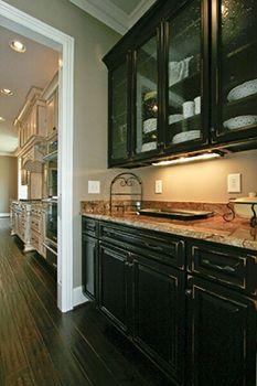 Black kitchen cabinets distressed yahoo search results