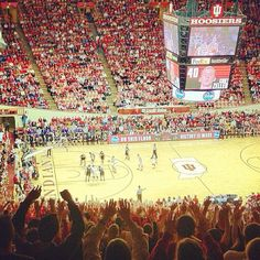 In 49 other states it's just basketball... but this is Indiana! #indianauniversity #iu #bloomington #iubb