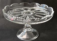 """GALLOWAY cake stand, 9 1/2"""" d. EAPG"""