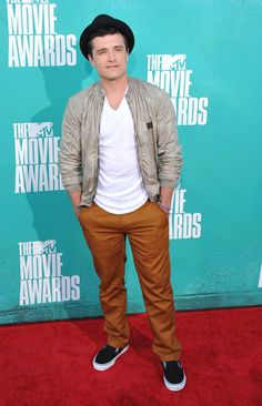Josh Hutcherson arrives at the #MTVMovieAwards in Universal Studios, Los Angeles on June 3, 2012.