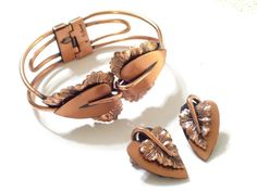 Rare Vintage Renoir Copper Heart Shaped Leaf by TheCopperCat, $69.00
