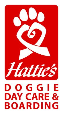 The Hattie's Doggie Day Care & Boarding logo. The program provides day care, overnight boarding and grooming services for your dog while you're at work or out of town. Hattie's Doggie Day Care & Boarding is a Hattie Larlham vocational program for adults with disabilities. Learn more: http://www.hattielarlham.org/v/doggie-day-care-cleveland.asp