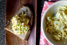 egg salad with pickled celery and coarse dijon by smitten, via Flickr