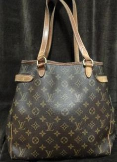 Louis Vuitton Brown Monogram Batignolles Designer Handbag with some wear.    $479.50