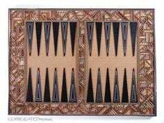 Corrugated Mosaic Backgammon Set