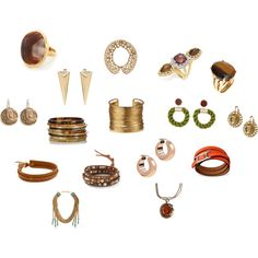 """""""True Autumn jewelry in many Kibbe types."""" by tinabee1967 on Polyvore"""