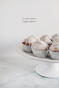 glazed donut cupcake
