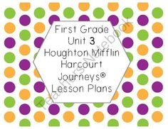 First Grade Reading Lesson Plans Journeys� Unit 3 from First Grade Magic on TeachersNotebook.com -  (12 pages)  - Includes a five-day lesson plan for each of the lessons in Unit 3 of Journeys.