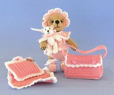 Elspeth, A Little Crocheted Bear by Sue Pendleton  Published in Bluebeary Treasures on Ravelry Craft Crochet Category Doll Clothes Softies →...