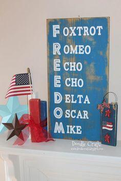 Phonetic Alphabet Freedom Distressed Sign!