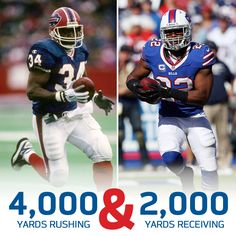 Fred Jackson joined Thurman Thomas in the Bills record books on Sunday. Congrats Fred!