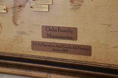 Map marking family missionary service