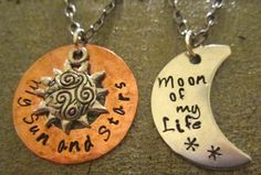 Game of Thrones: His and hers necklaces on Etsy: http://www.etsy.com/shop/StampandShine