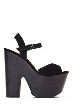 Shoe Cult Too Shy Platform - Black