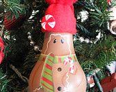 Peppermint Gingie Lightbulb Ornament