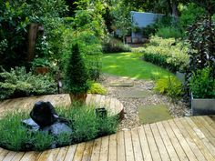 Deep Planted Borders Seclude Yard from World