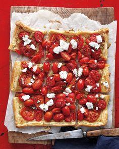 Tomato and Goat Cheese Tart - Martha Stewart Recipes