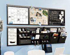 command centers, wall organization, home office organization, office walls, pottery barn