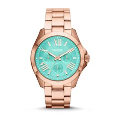 Spring 2014 #Fossil Cecile Multifunction Stainless Steel Watch – Rose