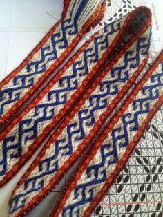 Tablet weaving pattern, design Maikki Karisto & Mervi Pasanen 2014