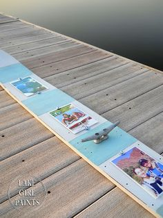 Repurpose Water Ski to Beachy Photo Holder from Lake Girl Paints