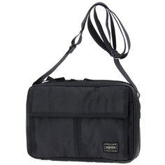 PORTER / BLACK PATTERN SHOULDER BAG