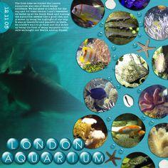 Scrapbooking Page - Aquarium