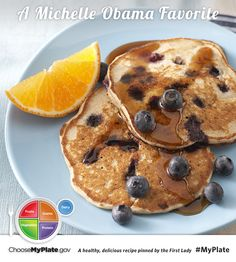 Blueberry Buckwheat Pancakes #fruits #wholegrain #myplate #myplatebirthday