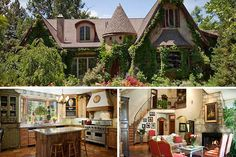 This dreamy storybook house would be a fine fit for the grown-up version of the girl who was obsessed with horse stories. It comes with a horse barn (naturally), and other fanciful details include a gabled bedroom with a ceiling painted like the sky, arch-topped windows (very antique looking for a house built in 1996), and a colorful, stained-glass window above a soaking tub.