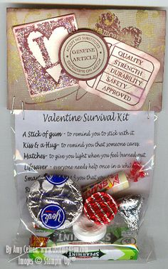 Valentine Survival Kit...with the matches I'd have to put a PartyLite candle!