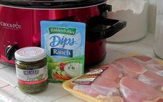 Pesto Ranch Crock Pot Chicken Thighs
