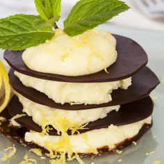A light and decadent dessert with a gorgeous lemon coconut ganache recipe that can be used in just about any recipe.. Lemon Coconut Ganache Towers Recipe from Grandmothers Kitchen.