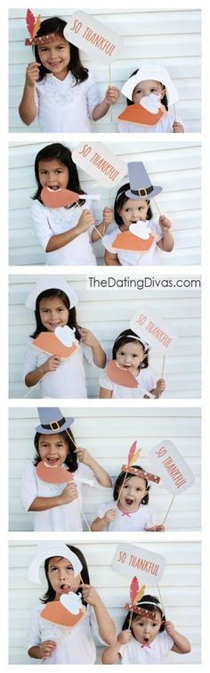 FREE Thanksgiving photo booth props- a quick and easy way to add some last minute fun to Turkey Day!
