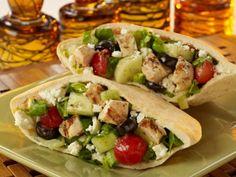 Greek Chicken Pita Sandwich