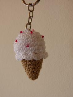 Llavero Helado, Crochet, Amigurumis