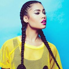 I am IN LOVE with cornrow pigtails ❤