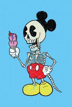 mickey fan - Mickey Mouse Skeleton Cartoon