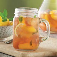 signature drinks, peach tea, heb plan, easter recipes, signatur drink, mint peach, parties, sparkl mint, favorit food